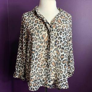H&M Tops - Leopard Print Blouse